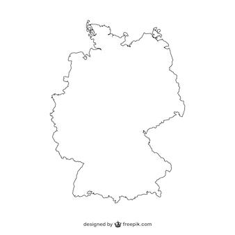 Witte duitsland silhouet
