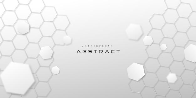 Witte elegante zeshoek technische achtergrond