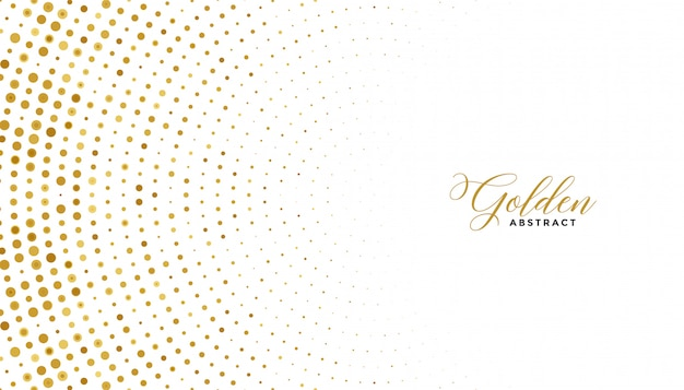 Witte en gouden halftone effect achtergrond