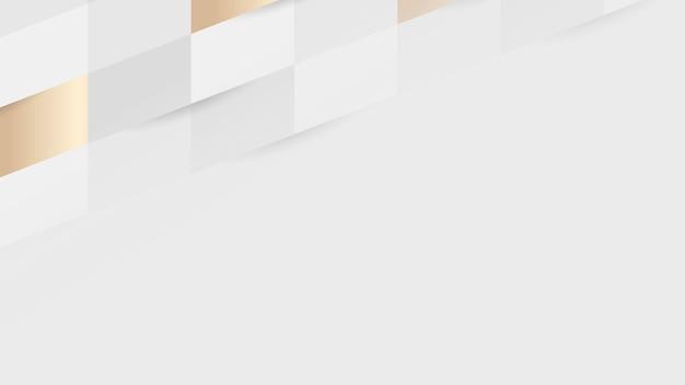 Witte en gouden naadloze weefpatroon achtergrond