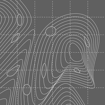 Witte en grijze abstracte contourlijnkaart