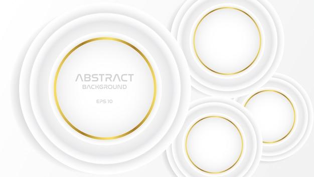 Witte en grijze achtergrond met gouden cirkel
