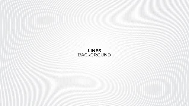 Witte en grijze achtergrond met lijnen golfpatroon