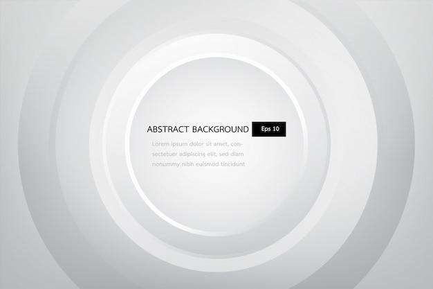 Witte en grijze elegante abstracte achtergrond, glans en vlotte cirkelsjabloon.