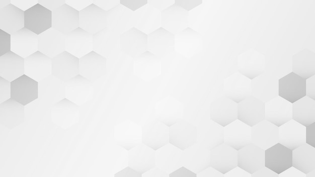 Witte en grijze zeshoekige patroonachtergrond