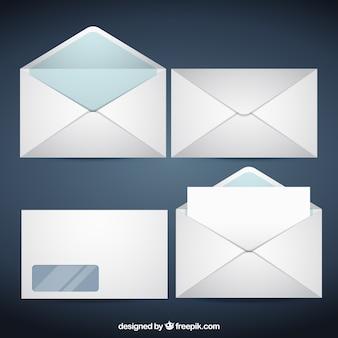 Witte enveloppen