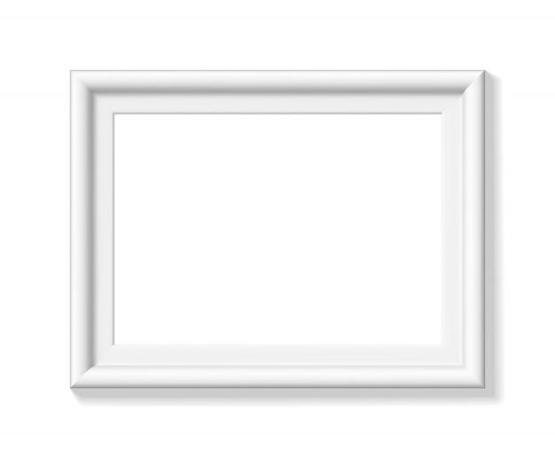 Witte fotolijst. landschap oriëntatie