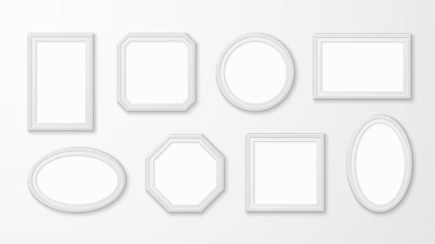 Witte fotolijsten illustratie