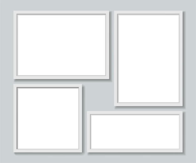 Witte fotolijsten sjabloon instellen.