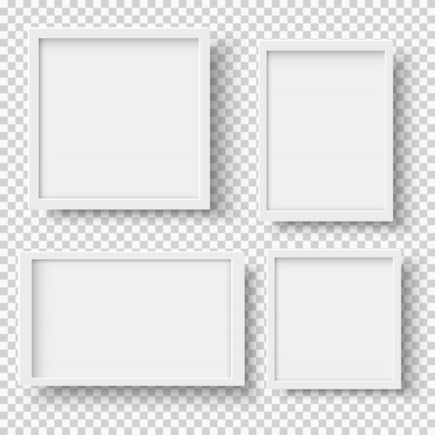Witte fotolijsten