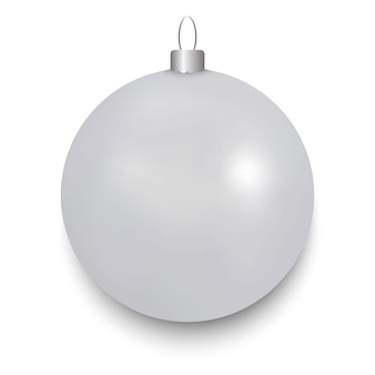 Witte geïsoleerde kerstmisbal
