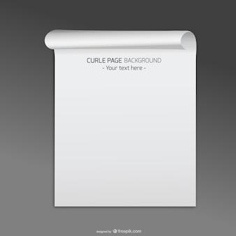 Witte gekrulde pagina sjabloon