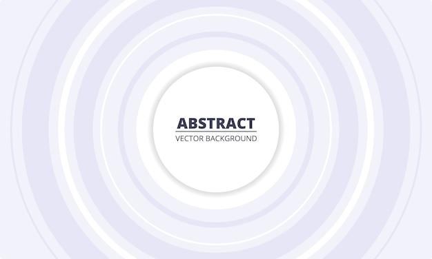 Witte geometrische abstracte achtergrond. zilveren cirkels in het midden op een witte achtergrond.
