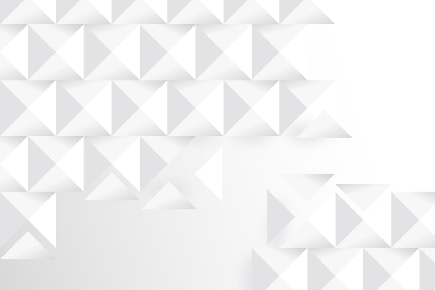 Witte geometrische achtergrond in 3d-papierstijl