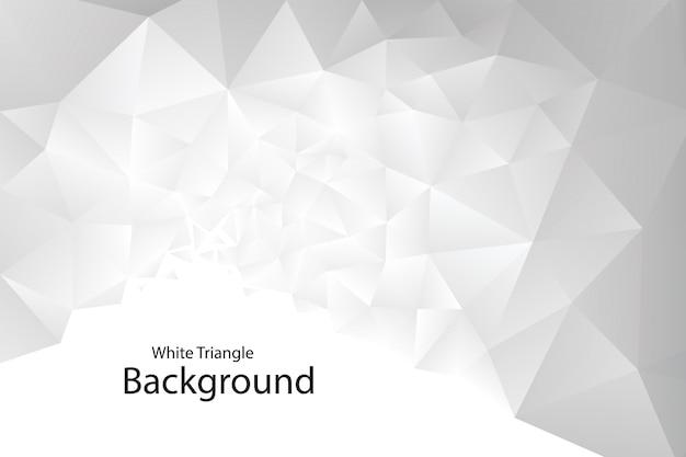 Witte geometrische driehoeksachtergrond