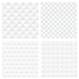 Witte geometrische naadloze patronen