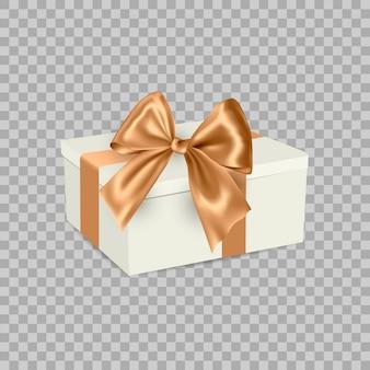 Witte geschenkdoos met lint