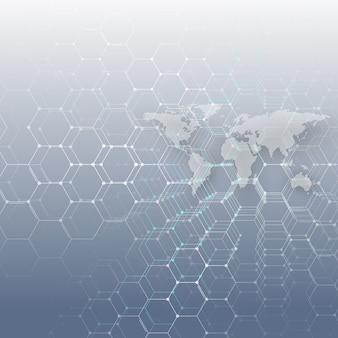 Witte gestippelde wereldkaart