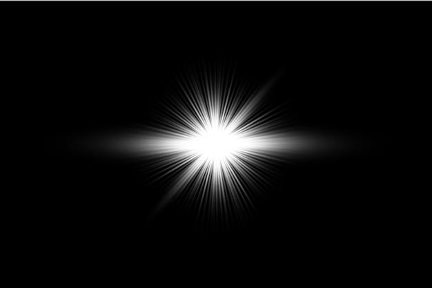 Witte gloeiende lichte transparante achtergrond