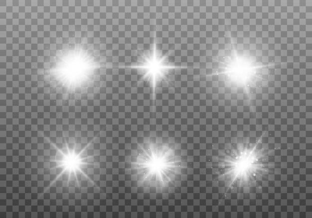 Witte gloeiende lichtset