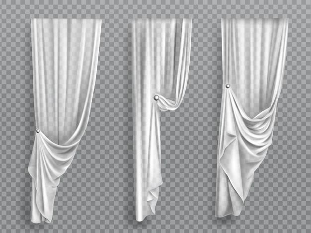 Witte gordijnen op transparante achtergrond