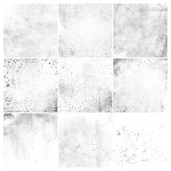 Witte grunge noodlijdende textuur set