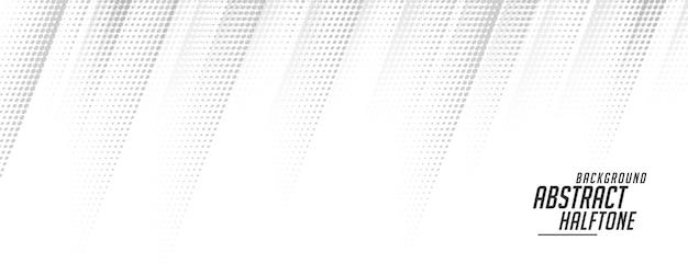 Witte halftone banner in bewegende lijnstijl