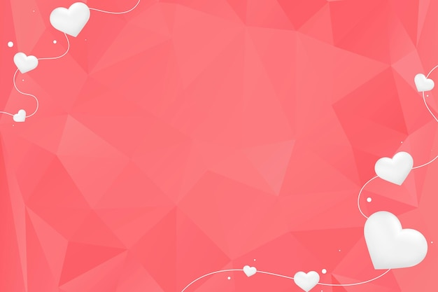 Witte harten op rode achtergrond