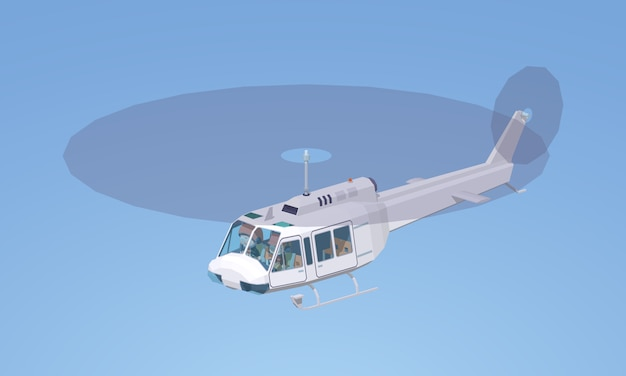 Witte helikopter