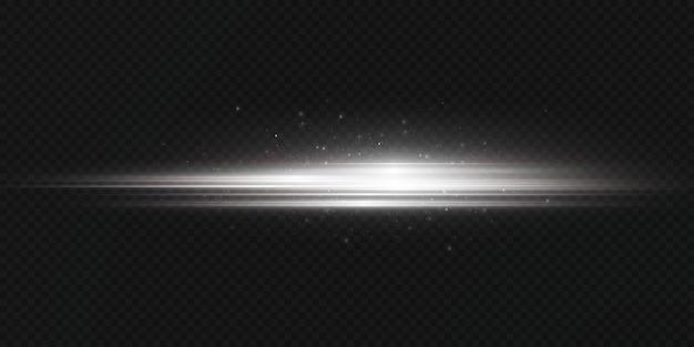 Witte horizontale lensflares pack laserstralen horizontale lichtstralen