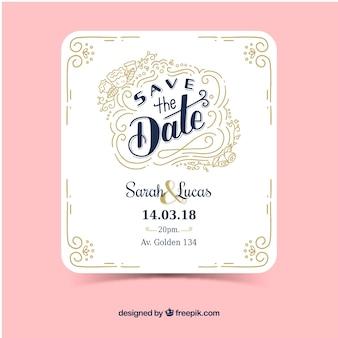 Witte huwelijksuitnodiging