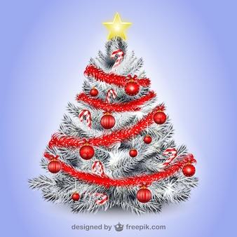Witte illustratie van de kerstboom