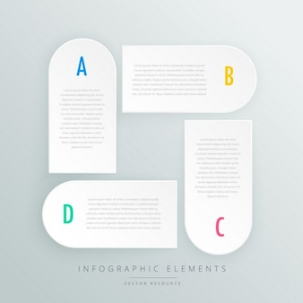 Witte infographic stappen presentaion template