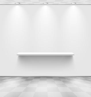 Witte kamer met plank