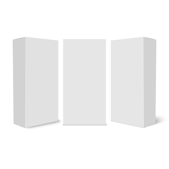 Witte kartonnen doos