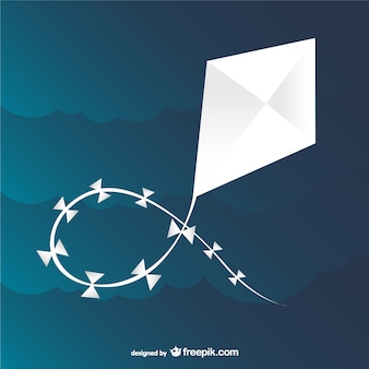 Witte kite vector Premium Vector