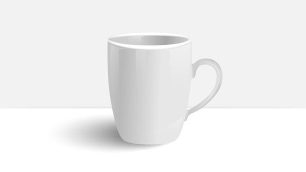 Witte kop op witte tafel