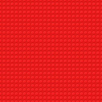 Witte kunststof bouwplaat vector naadloze achtergrond speelgoedblokken