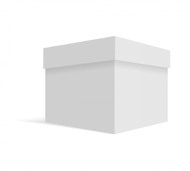 Witte lege kartonnen pakketdoos