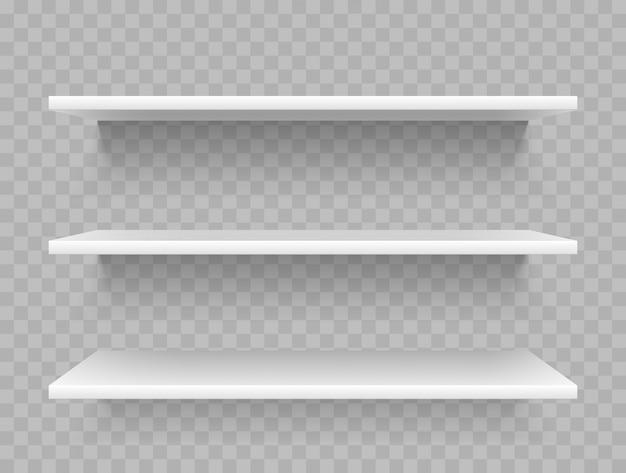 Witte lege productplanken