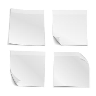 Witte lege stok notitie papieren collectie