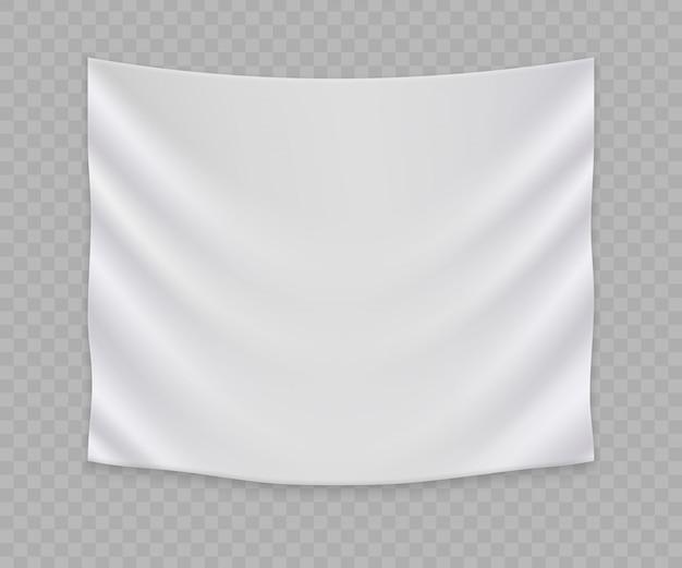 Witte lege vlag of sjabloon voor spandoek