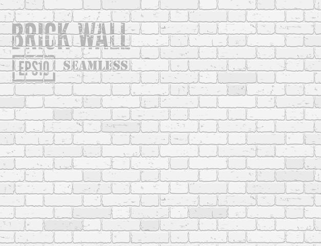 Witte loft stijl realistische grunge bakstenen muur naadloze patroon achtergrond