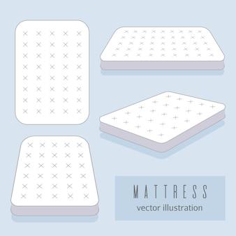 Witte matras illustratie.