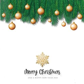 Witte merry christmas wenskaart