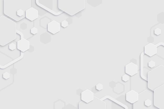 Witte minimale zeshoeken achtergrond