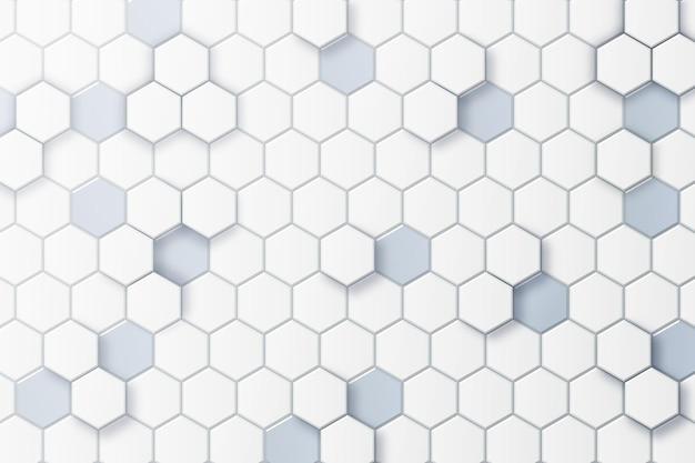 Witte minimale zeshoekige achtergrond