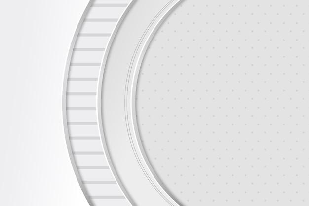 Witte monochrome achtergrond in papierstijl