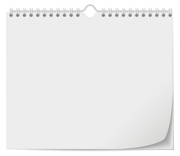 Witte muur kalendersjabloon met lente