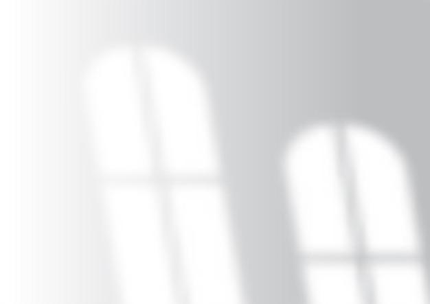 Witte muur met vensterschaduw overlay